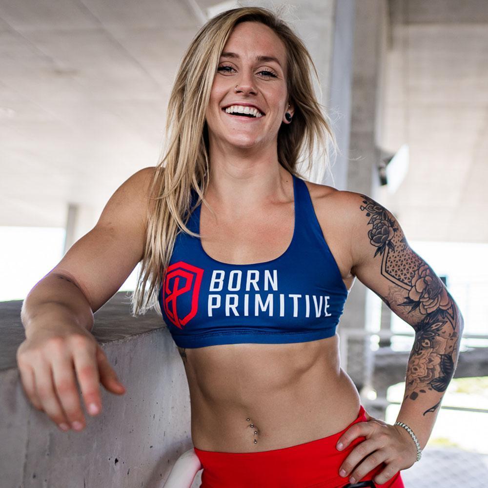 Brassière Femme - Born primitive - Vitality Brand Sports Bras navy blue