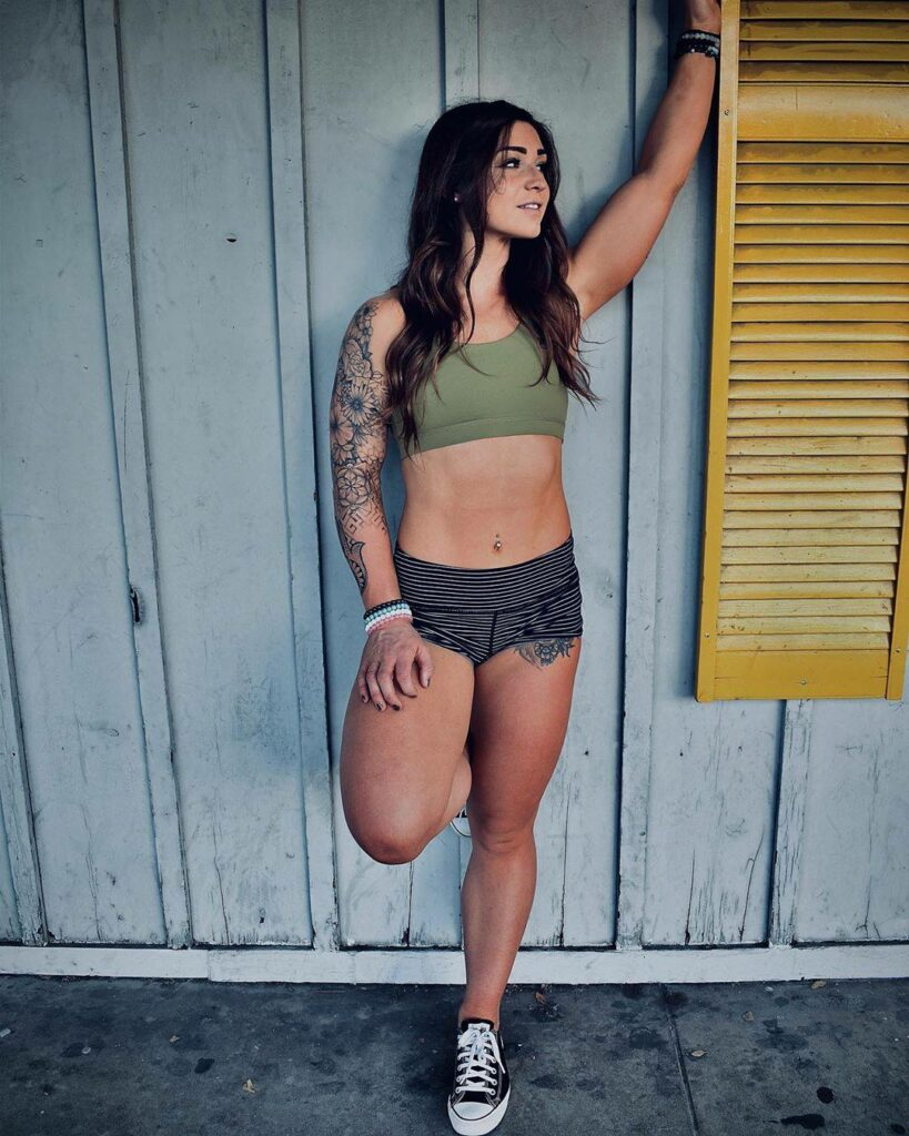 Brassière sport femme savage barbell kaki